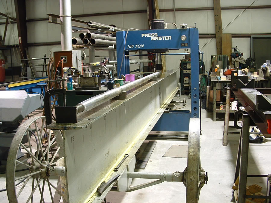 Our 100 ton shaft straightening press