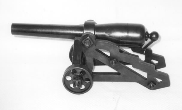 10 gauge replica carbon steel breechl loader signal cannon in deck carriage
