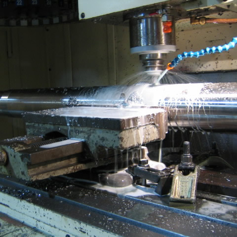 Machining a new boat shaft
